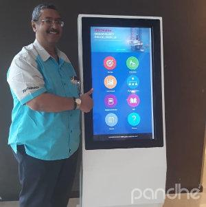 kiosk touch screen pertamina